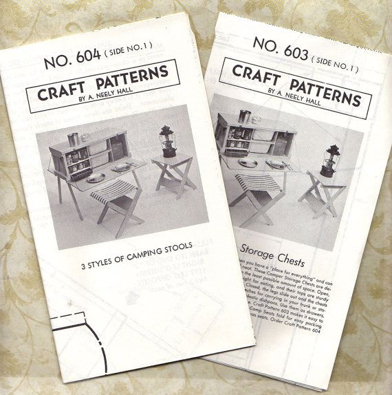 VINTAGE WOODWORKING PATTERNS  Full-size patterns for by BunnysLuck