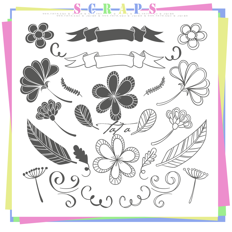 سكرابز سكرابز للتصميم سكرابز زخارف زخارف جديدة Scraps 2015 منتديات ال Black And White Painting Flower Drawing Tutorials Black And White Drawing