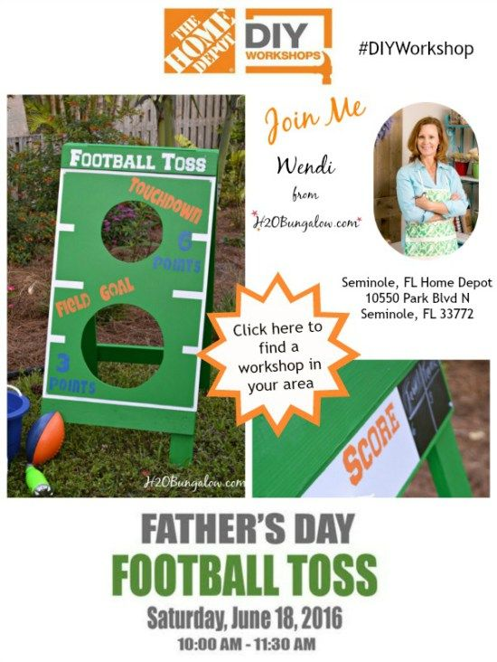 Come Build A DIY Football Toss At Your Loval Home Depot