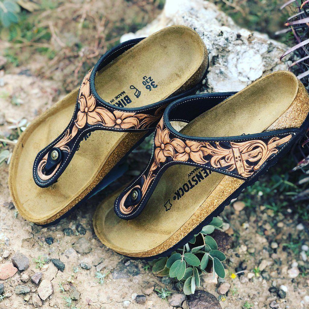 Leather birkenstocks
