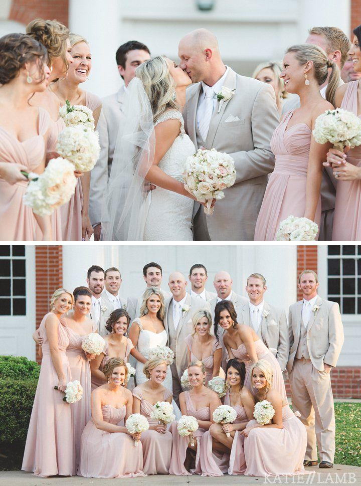 What Color Tux Matches Champagne Dresses Light Pink Wedding Wedding Blush Wedding