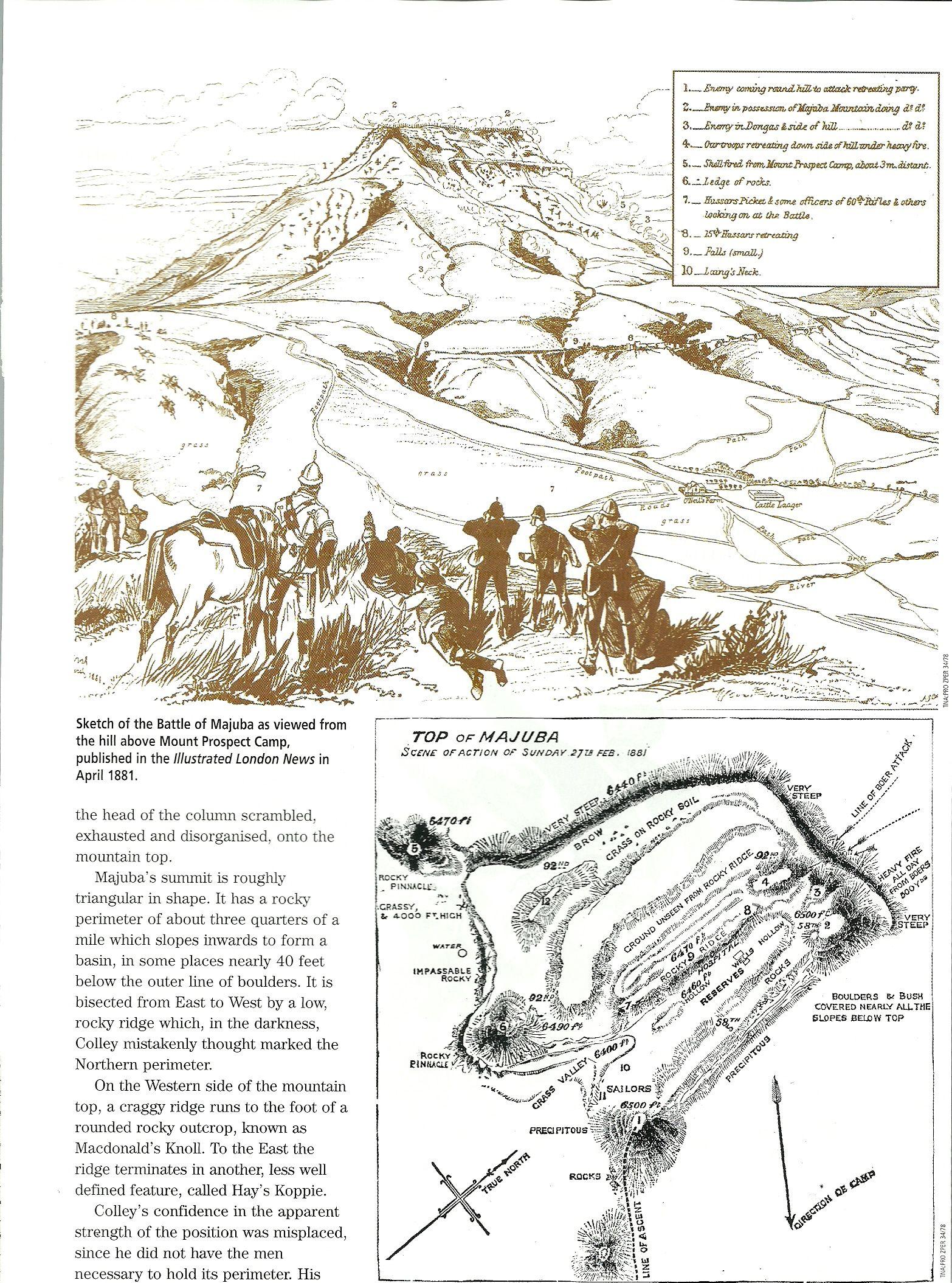 Sketch Of The Battle Of Majuba