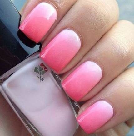 nails pink ombre summer 33 best ideas  ombre nails ombre