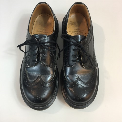 39.59$  Watch now - http://vidhq.justgood.pw/vig/item.php?t=gqyltke52853 - Dr Doc Martens Brogue Wingtips Oxford Black Boot Women's Size 5 39.59$