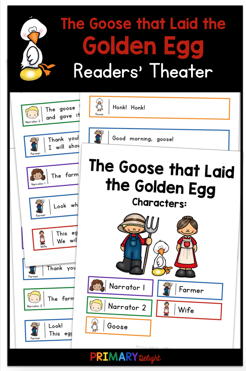 The Goose That Laid The Golden Egg Readers Theater First Grade Reading Readers Theater Teaching Elementary [ 1294 x 860 Pixel ]