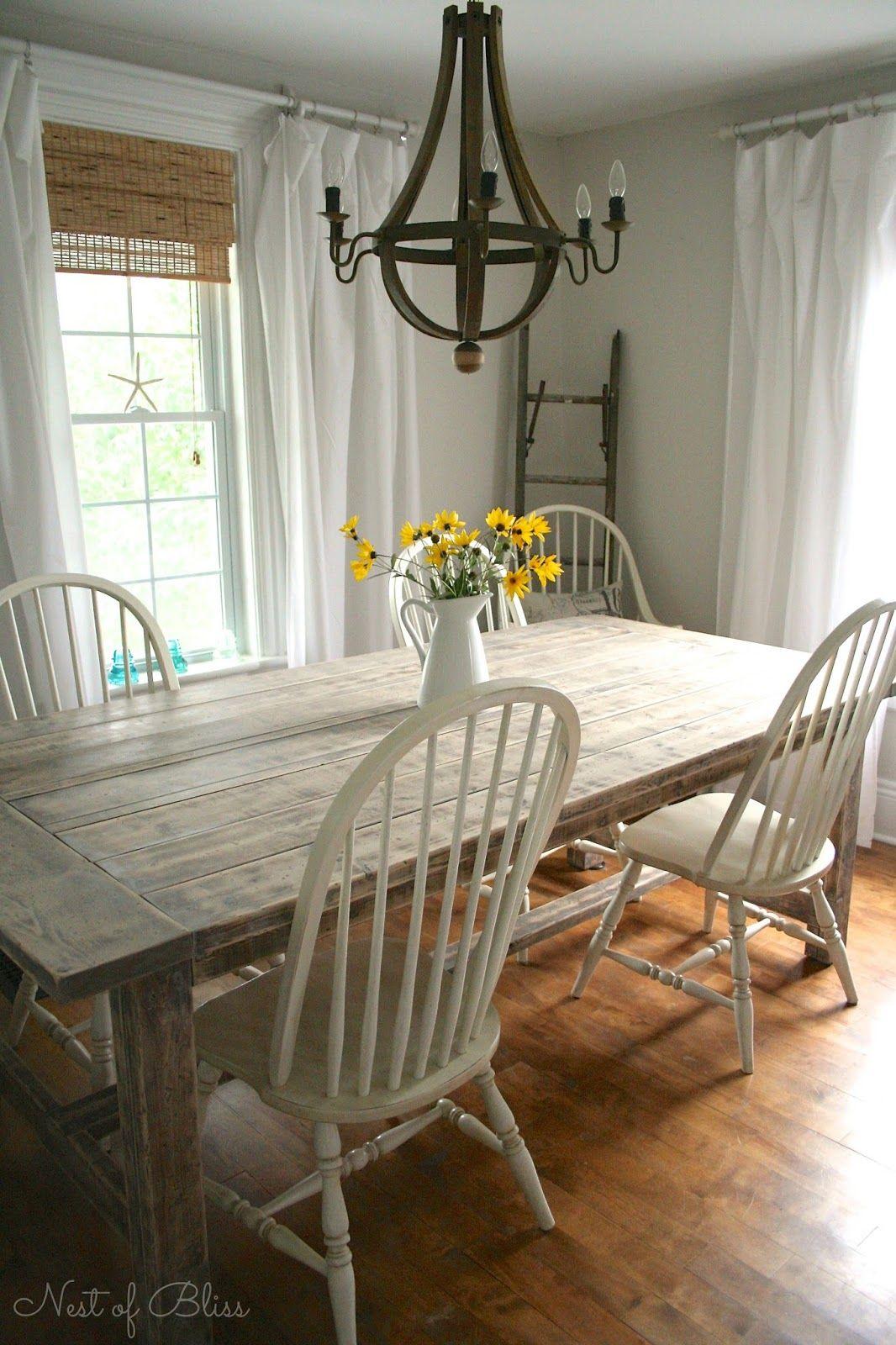 DIY Farmhouse Table  farmhouse table  Hogar Decoracin
