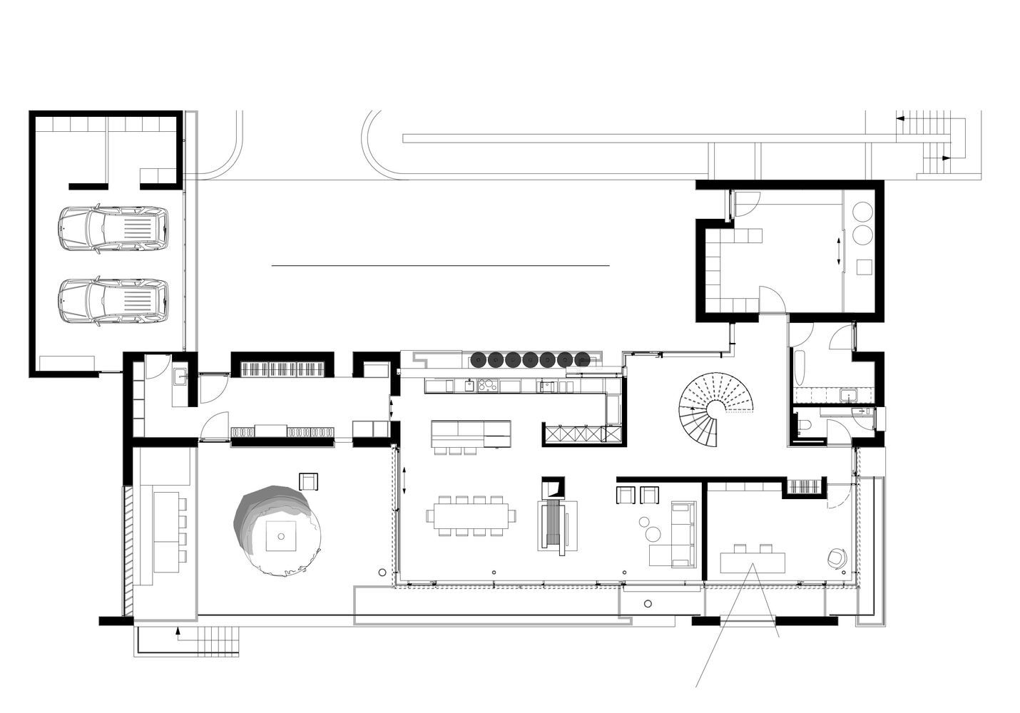 Gallery of house fmb fuchs wacker architekten 31 plantas pinterest house ground floor - Fmb architekten ...