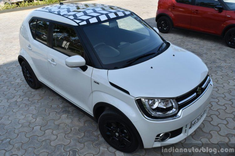 Custom Maruti Ignis Rendering First Drive Pearl White Car
