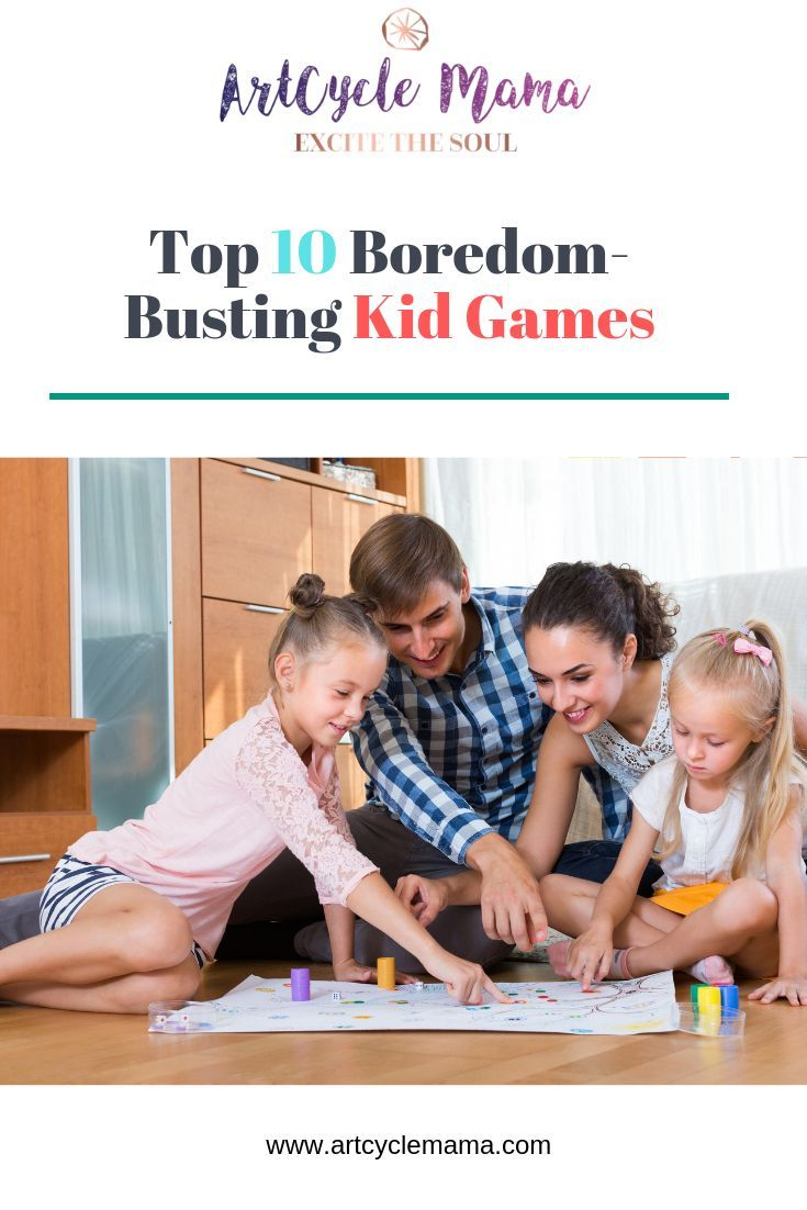 List of the latest top 10 boredom-busting kid games. From humor to strategy, these games will surely keep the family fun going for hours. #familytime #parenting #games #kidgames