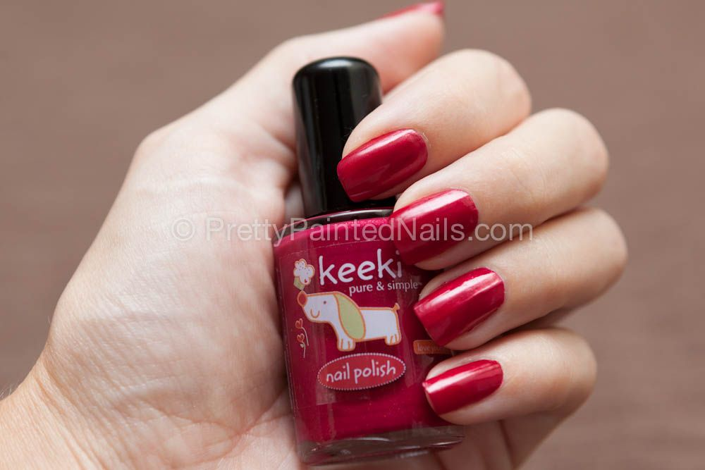 Keeki Pure & Simple water based nail polish swatch in Cherry Pie ...