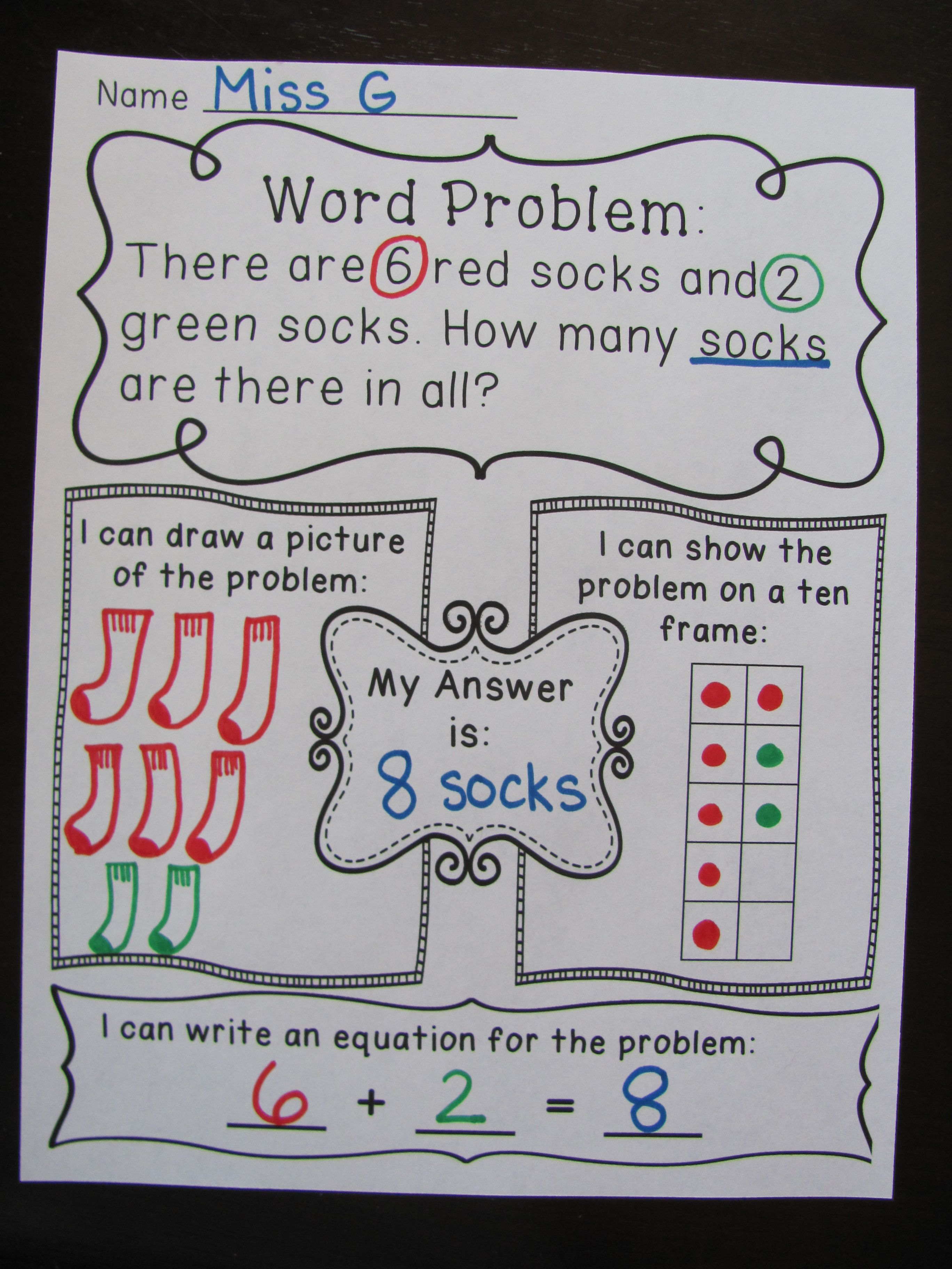Addition Word Problems Worksheets Word Problems