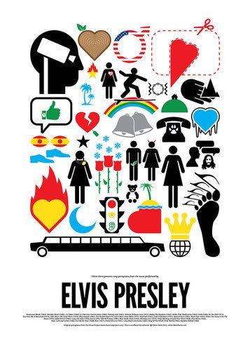 Elvis Presley.  4   Pop Music's Biggest Moments, Illustrated In Pictograms   Co.Design: business + innovation + design