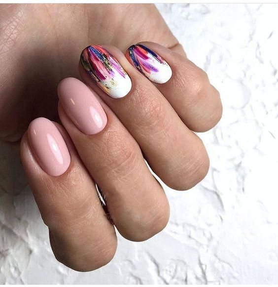 waterfall nails design ideas