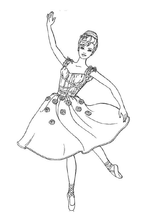 Barbie Dancing Coloring Pages - Barbie Coloring Pages : KidsDrawing ...