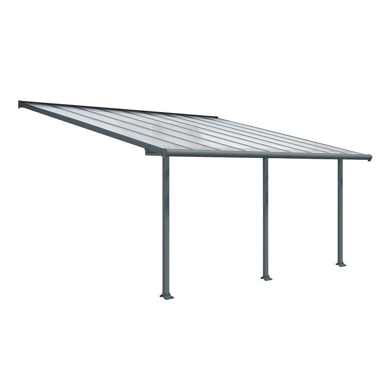 Palram Olympia Garden Patio Awning 3 X 6 10m Grey Patio Furniture Covers Patio Diy Pergola