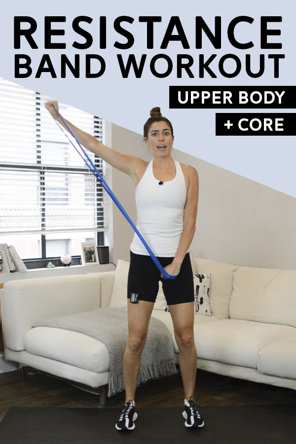 Upper Body + Core Resistance Band Workout | Pumps & Iron