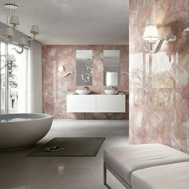 Rose Quartz Tiles Bathroom Ideas In 2019 Modern Marble Bathroom