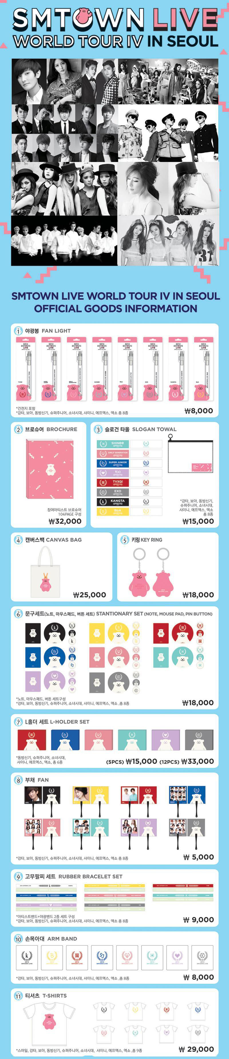 SMTOWN LIVE WORLD TOUR IV IN SEOUL OFFICIAL GOODS