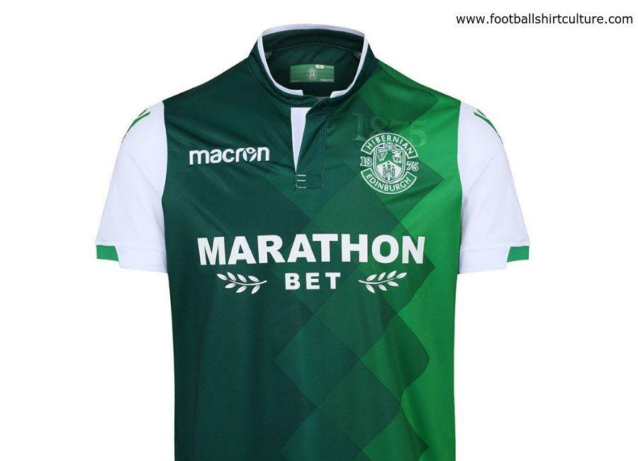 04a501b61af99 Hibernian 2018-19 Macron Home Kit | Soccer | Football shirts ...