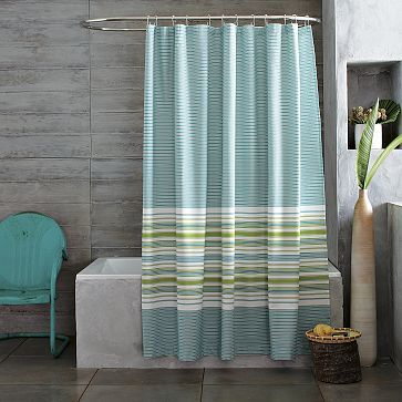 Gradated Stripe Shower Curtain Williamssonoma Striped Shower