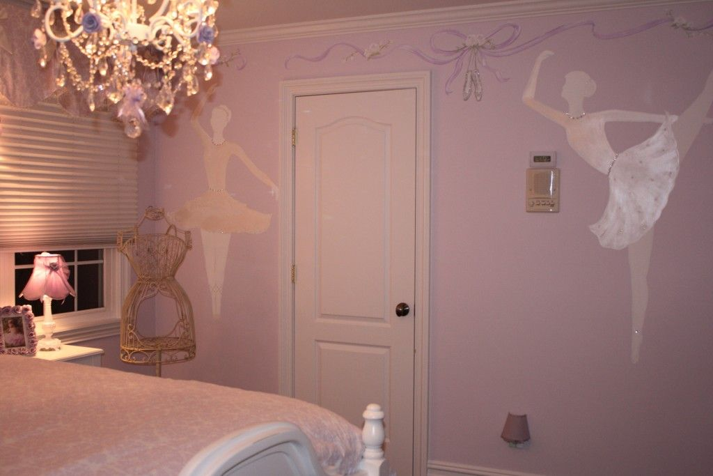 a2710d0b612 Elegant Ballerina Room. Murals were painted by Murals and more by Patrice.  Bejeweled with Swarvoski crystals, pearls and rhinestones.