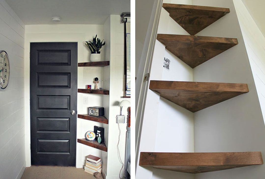 what to put on empty shelves