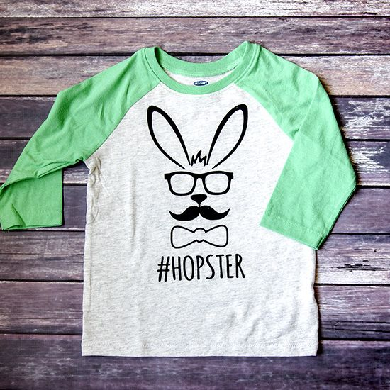 c84c3bbaa #Hopster Easter shirt with a free Silhouette Cut File - such an adorable  boy's Easter shirt!