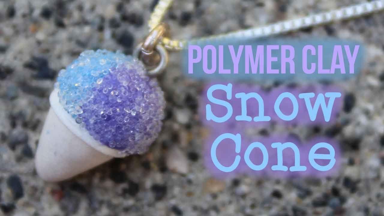 tutorial miniature snow cone charm Polymer clay kawaii