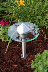 I want this to replace my dead pathway lights... Opentip.com: YardBright Brushed Clear Coated Modern Path Light