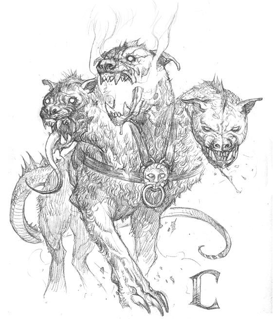 Prescott Draw-Blog Ceberus | Animal drawings, Creature ...Three Headed Animal Drawing
