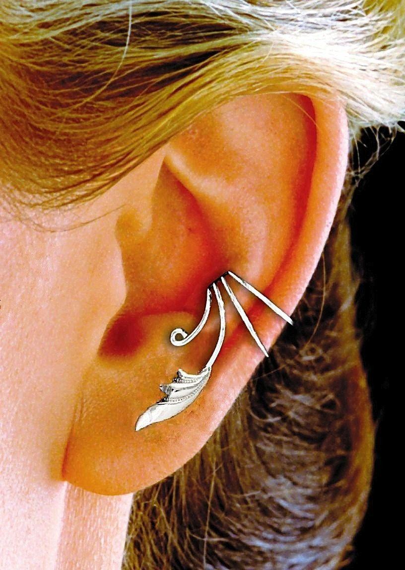 Delicate+Leaf+Ear+Cuff++++++Ear+Wrap+handmade+in+by