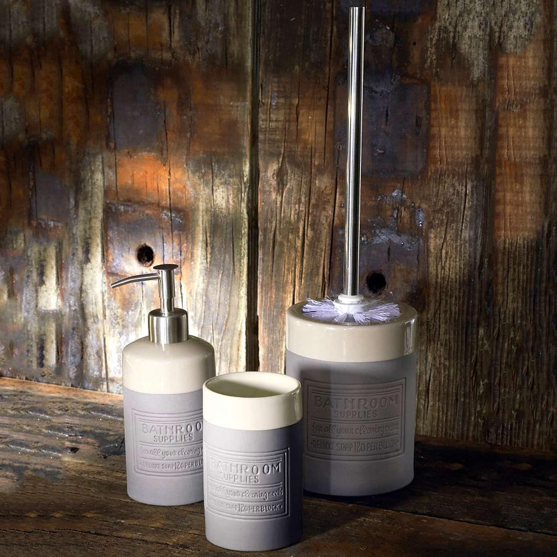 Salvage Stoneware Bathroom Tumbler Dunelm Homebase