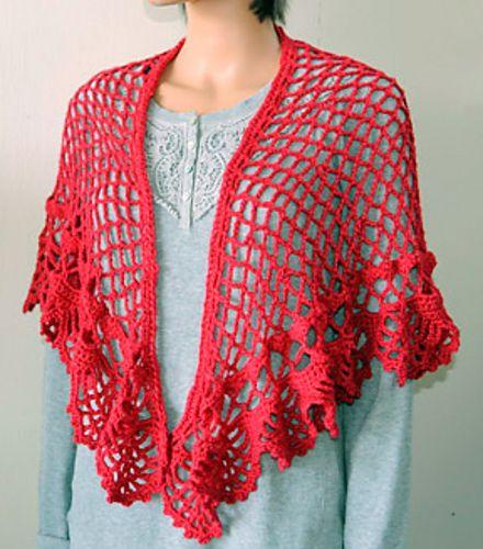 Crochet Patterns Galore Spanish Holiday Shawl crochet scarves Classy Crochet Patterns Galore