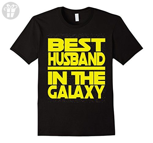 Men's Best Husband in the Galaxy Birthday Valentine's Gift Shirt Large Black - Birthday shirts (*Amazon Partner-Link)