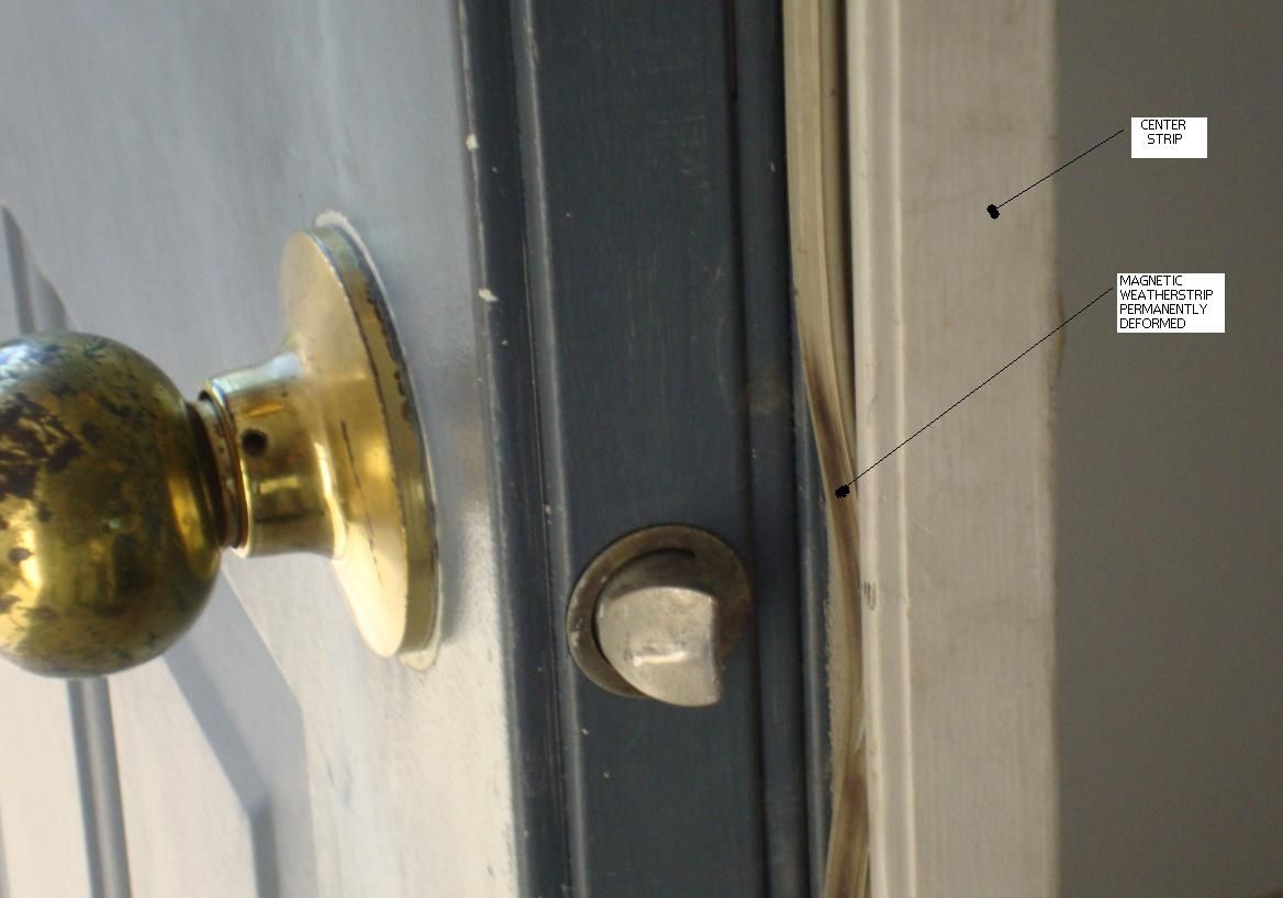 weather stripping for double metal doors http