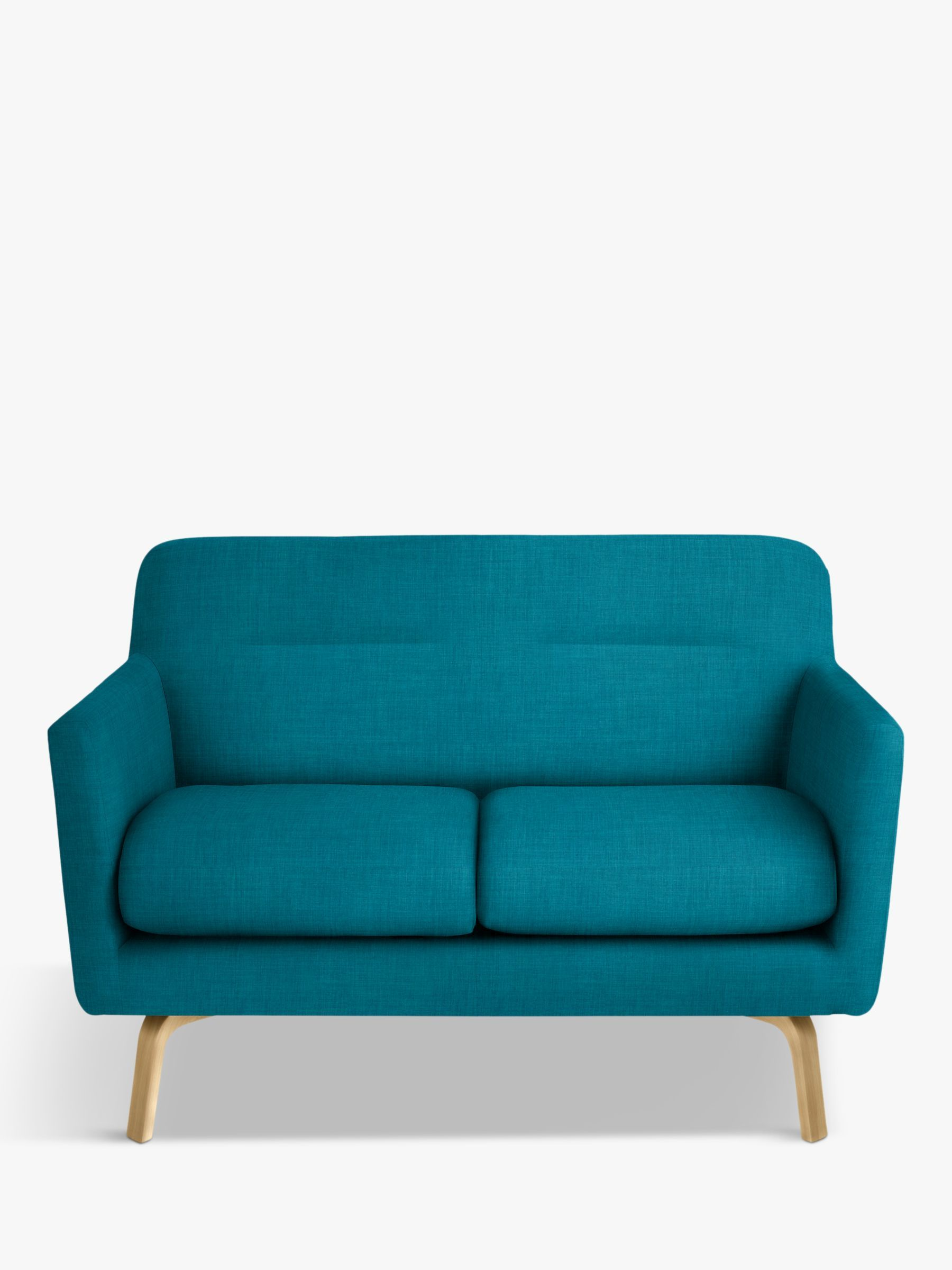 House By John Lewis Archie Ii Small 2 Seater Sofa Light Leg Fraser Teal 2 Seater Sofa Sofa Love Seat