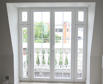 """Nice - If I ever add french windows in a """"dormer style"""" situation. loft style juliet balcony window"""
