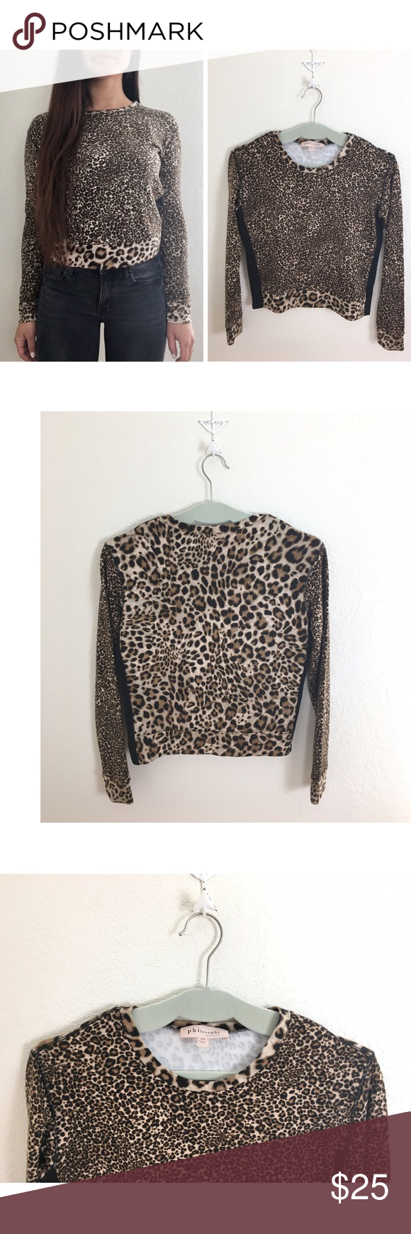 eb21b4501b59 Philosophy | Leopard Print Long Sleeve Top✨🖤✨ Measurements▫️Details coming  soon!