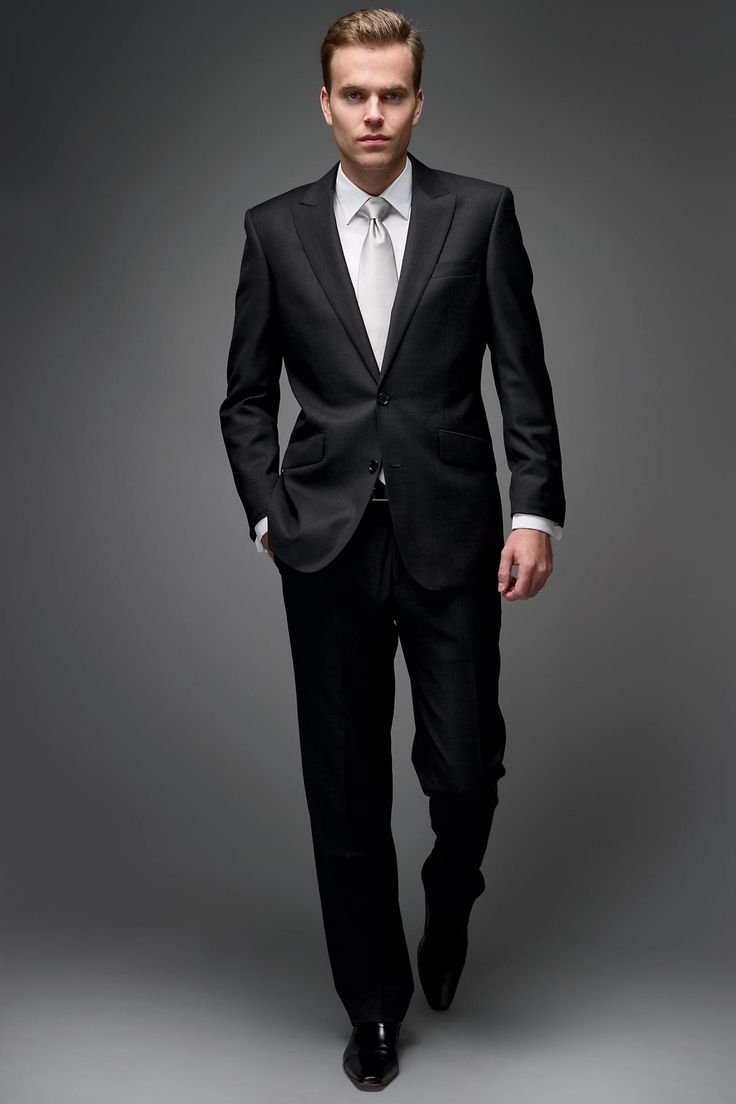 Dark Gray Suits Wedding Black Suit White Shirt Black Suit