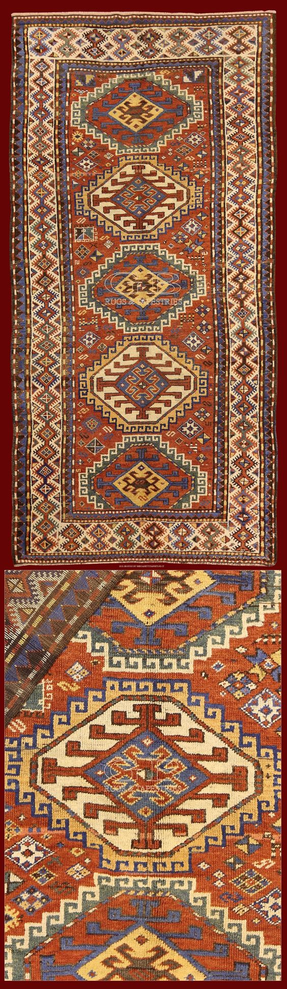 Kazak Antico 275x138 Cod. 141503457839 TAPPETI CAUCASICI