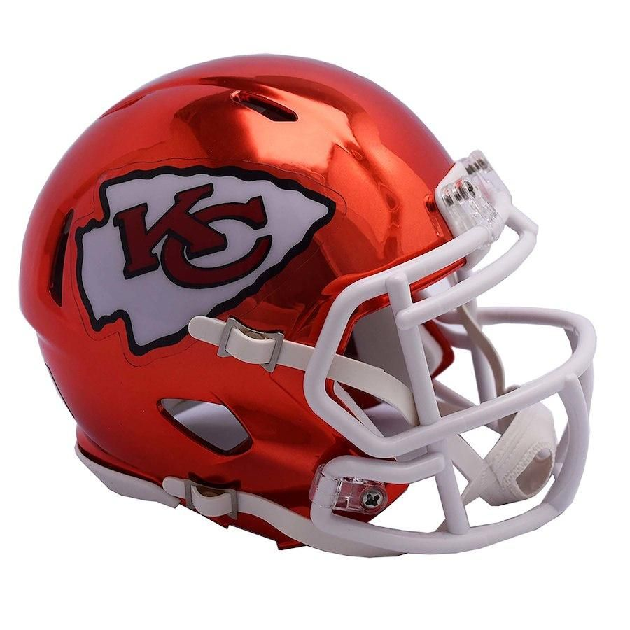 e64688b86 Riddell Kansas City Chiefs Chrome Alternate Speed Mini Football Helmet