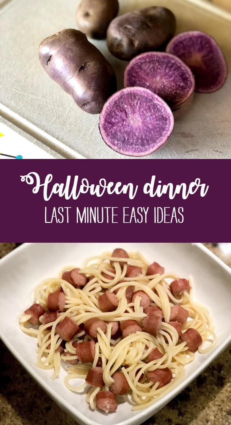 Last Minute Easy Halloween Dinner Ideas - Parties With A Cause