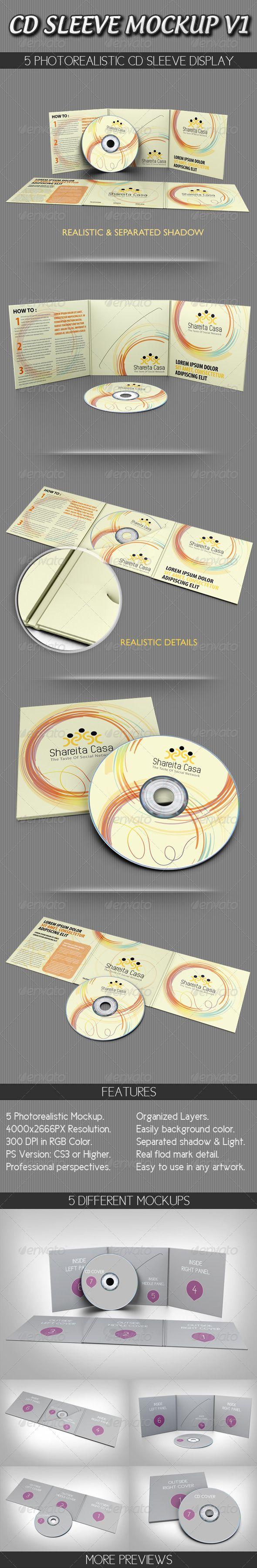 CD Sleeve Mockup V1   Reciclado y Ideas