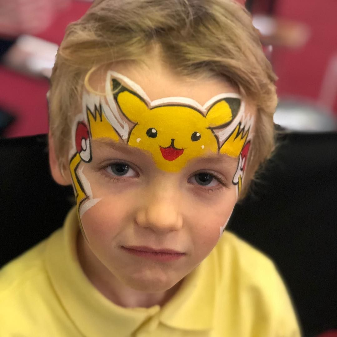 Pikachu By Emerald Face Painting Pikachu Face Painting Face Painting Halloween Face Painting For Boys