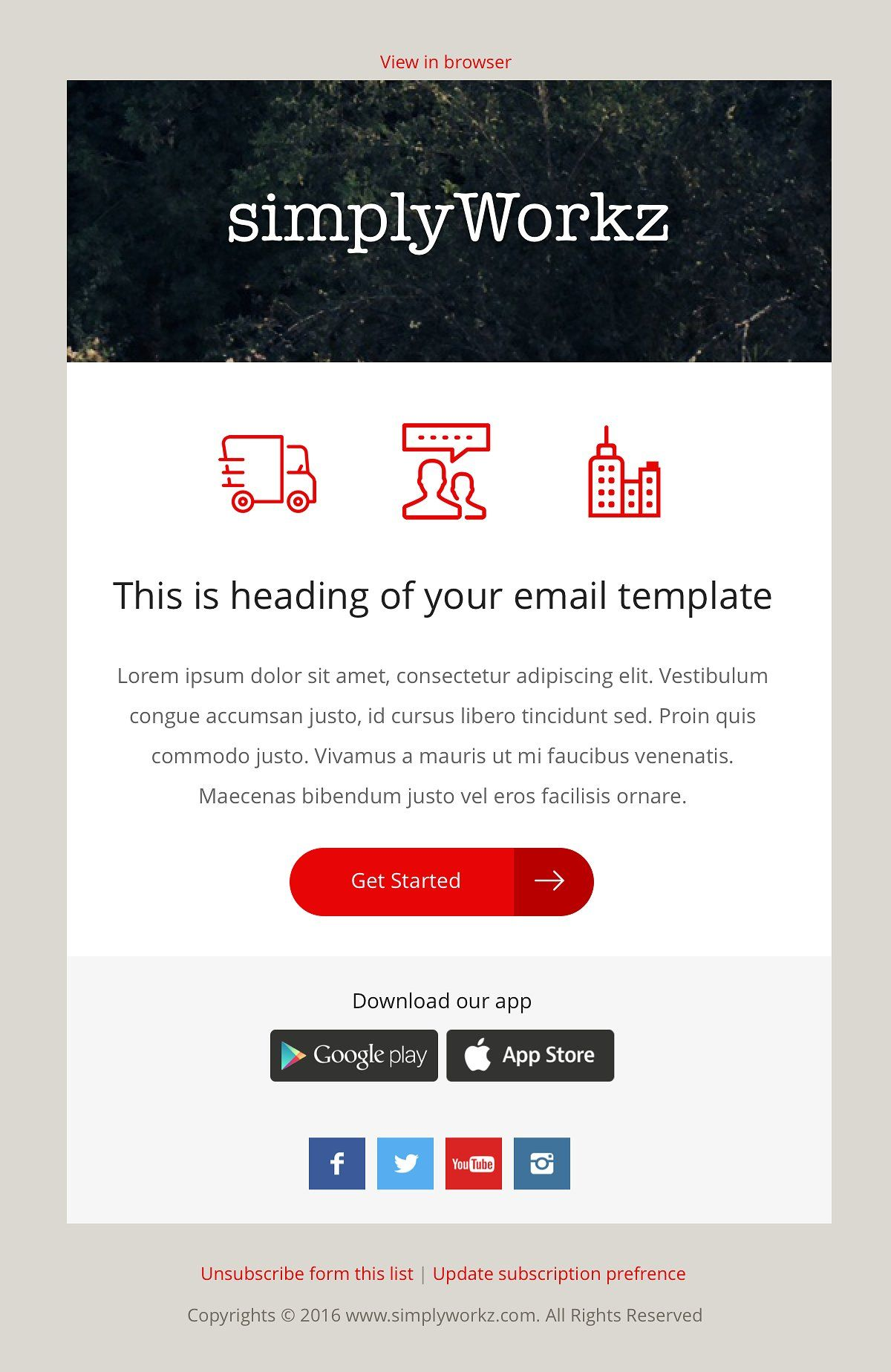 5 Email Templates Bundle Sketch Pinterest Template