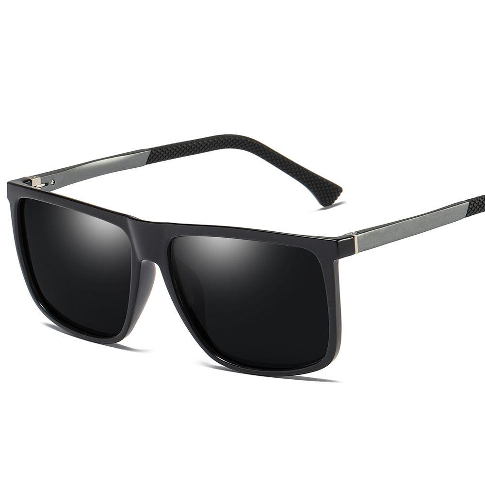 b07cbba9594e $8.99 Peekaboo men rectangle sunglasses polarized matte black 2019 fashion sun  glasses for men mirror silver