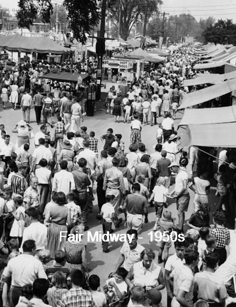Cuyahoga County Fair's midway in the 1950s (at the Fairgrounds in Berea -- Eastland and Bagley Road area)