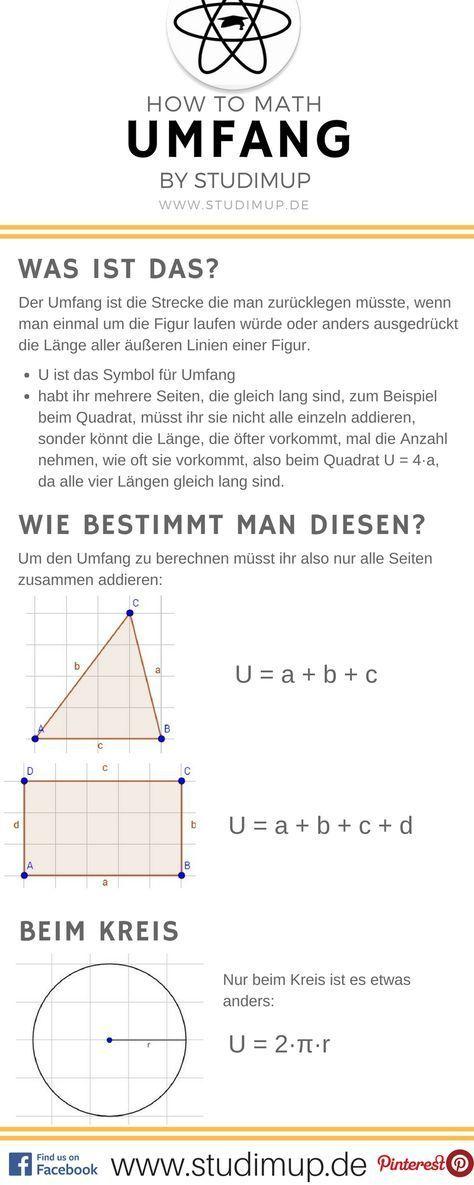 Mathe Spickzettel zum Umfang. Einfache Erklärungen auf Studimup ...