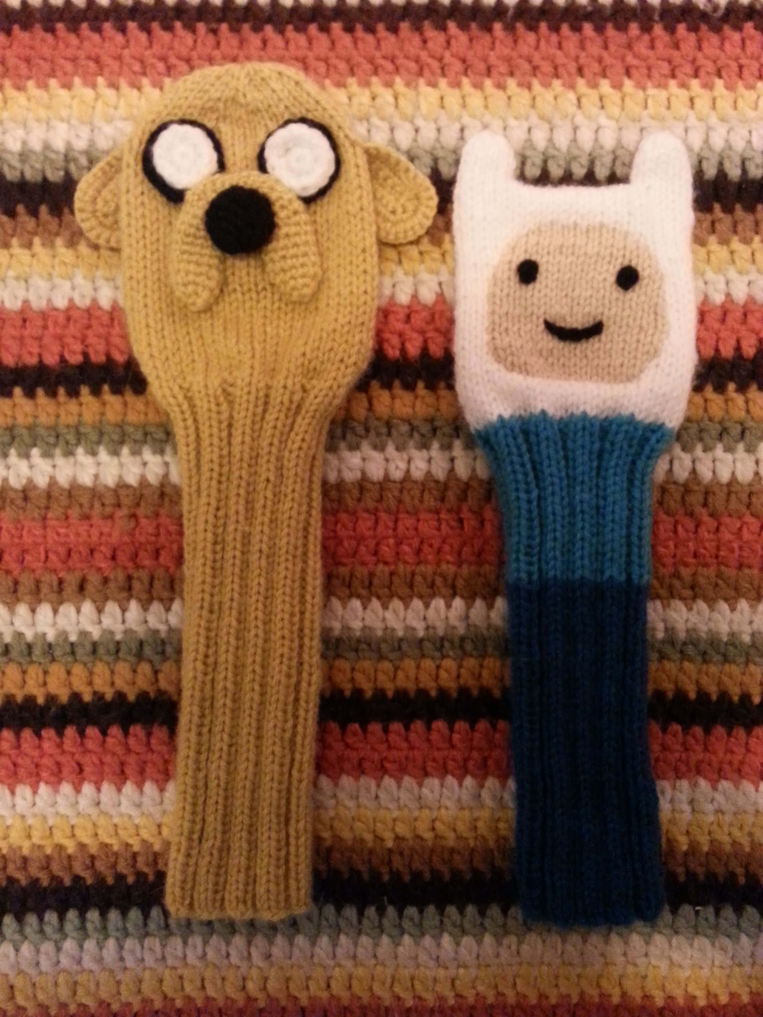 Adventure Time | Finn and Jake knitted golf club covers! | Adventure ...