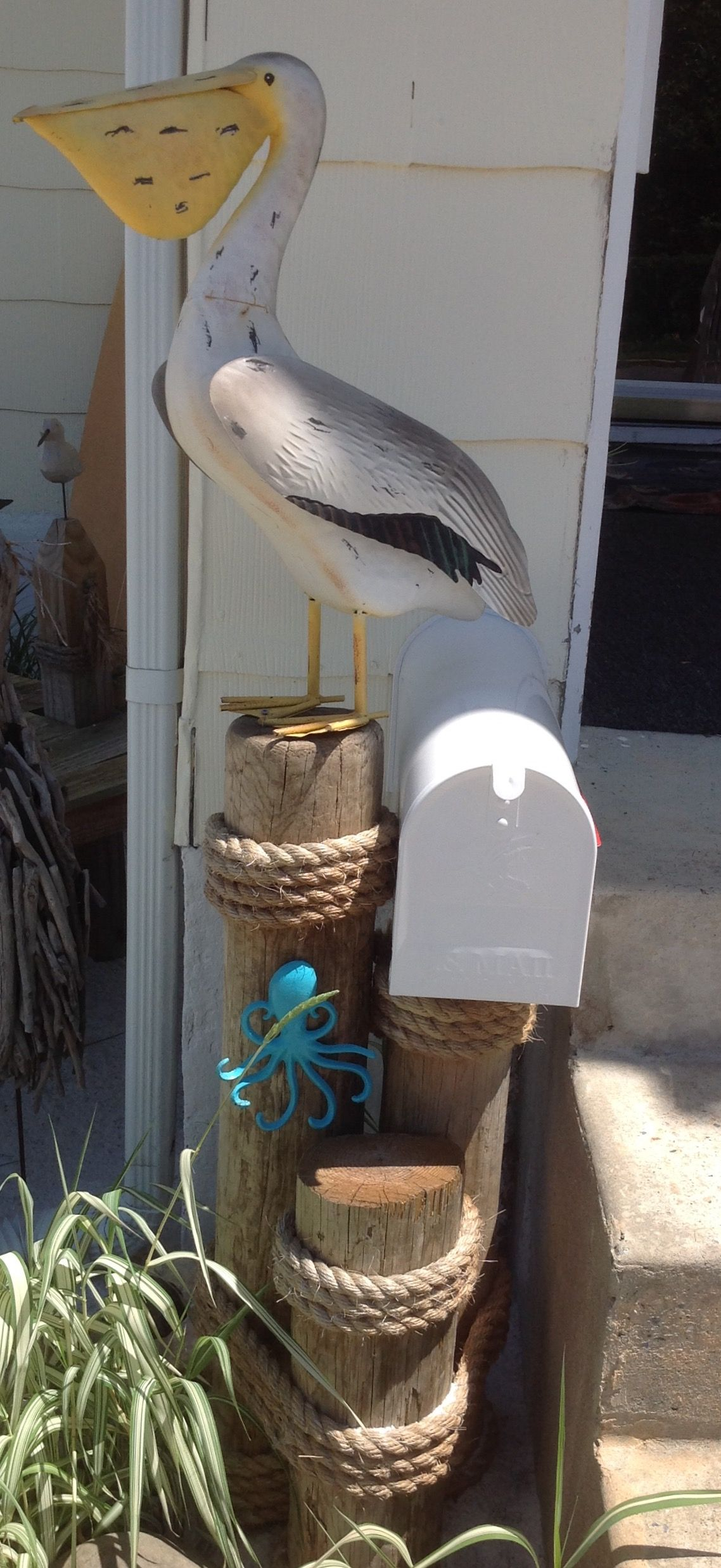 Pelican Mailbox At Our Beach House Ideas Mermaid
